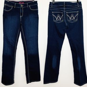 WRANGLER Dark Wash Bootcut Embroidered Jeans